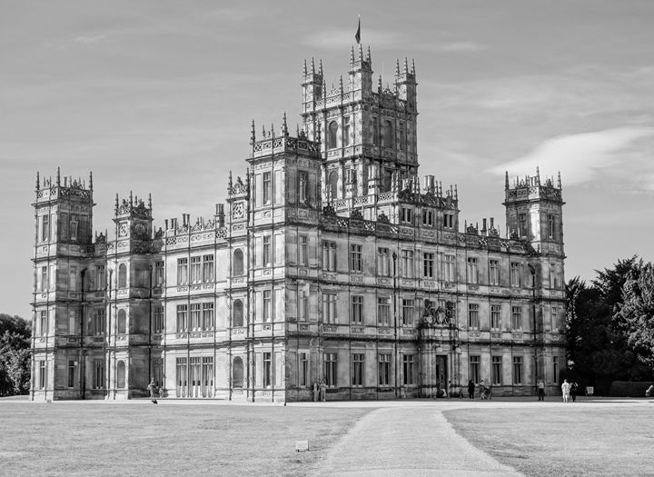 Highclere Castle Downton photo - KCBlack&White