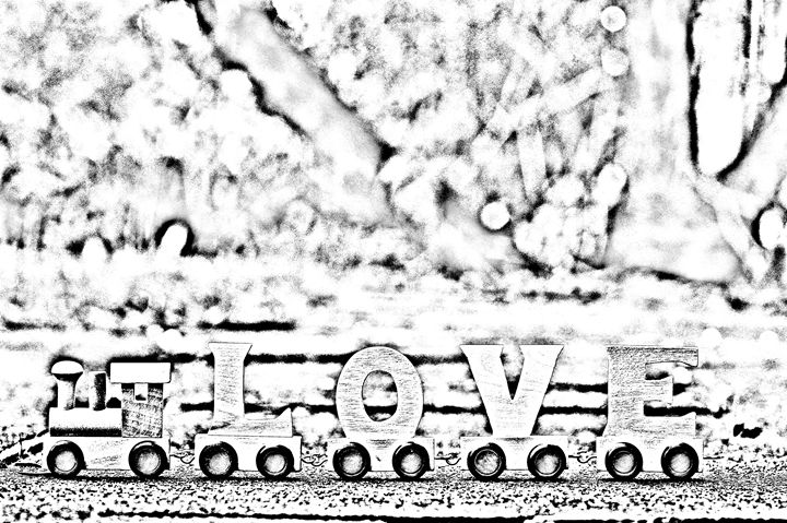 Love train sketch - KCBlack&White