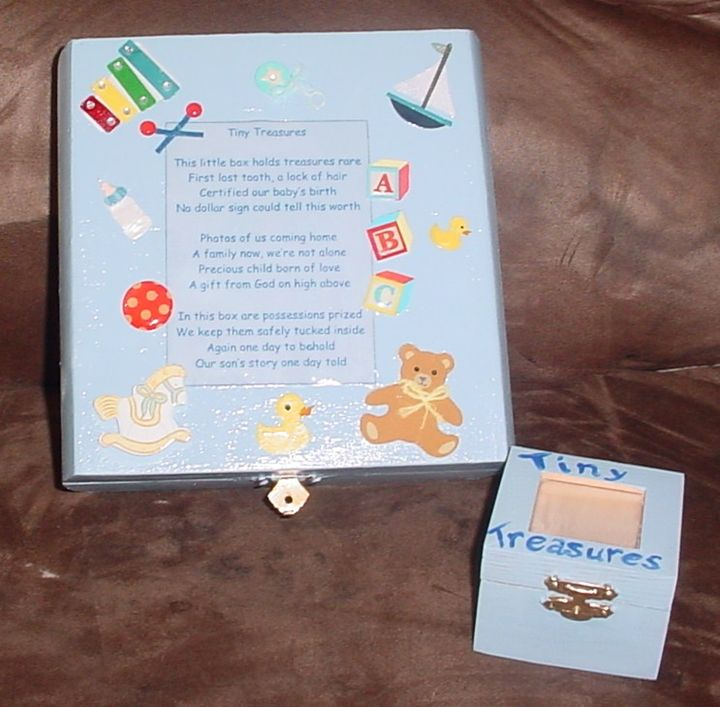 Keepsake Box for Baby Boy - Carolina Keepsakes