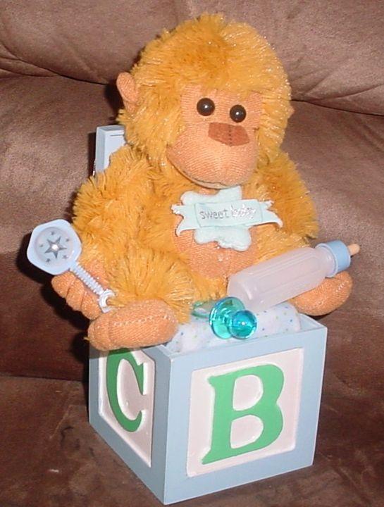 Baby Boy Monkey Music Box - Carolina Keepsakes