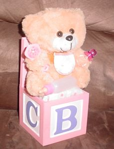 Baby Girl Teddy Bear Music Box - Carolina Keepsakes