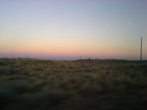 Texas sun set