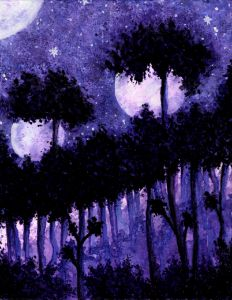 2 Moons Painting