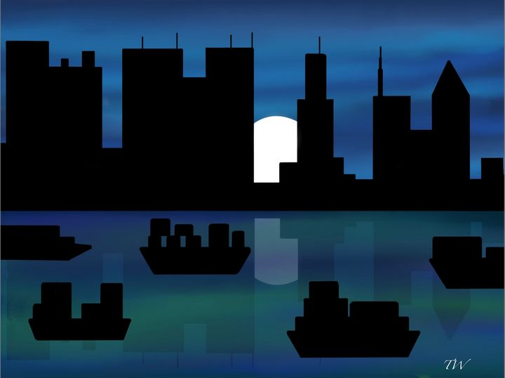 City scape - Art by Theresa