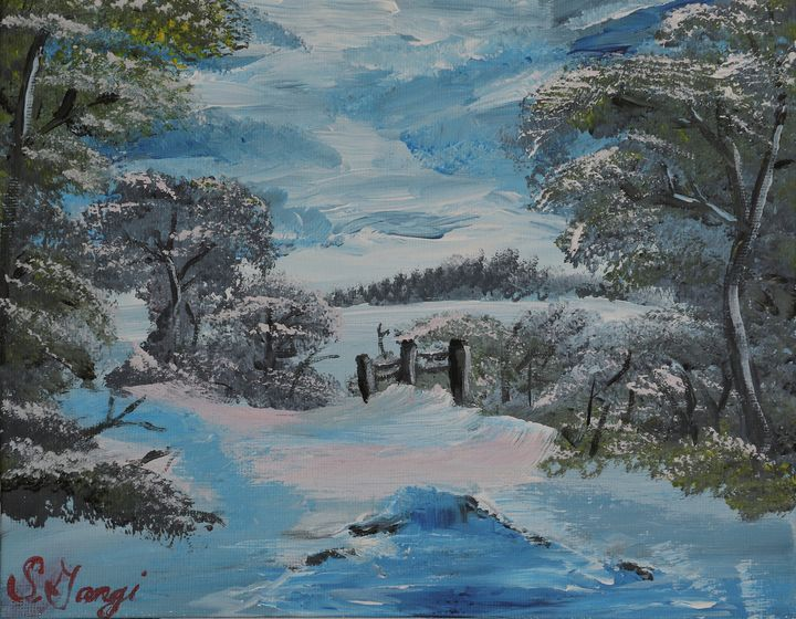 Winter by the Creek - Save Simba Art