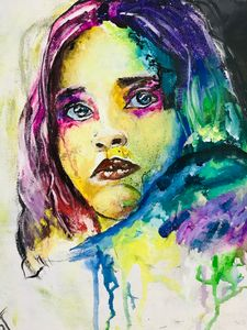 Colour in self watercolor painting