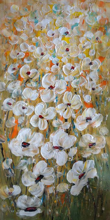 White Poppy Flowers - Art by Luiza Vizoli - Paintings & Prints ...