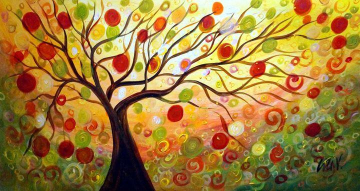 Fall Music Tree - Art by Luiza Vizoli