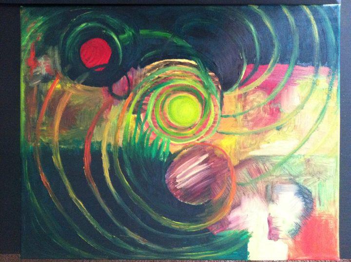 Molecular Eliptica - Oil Painting