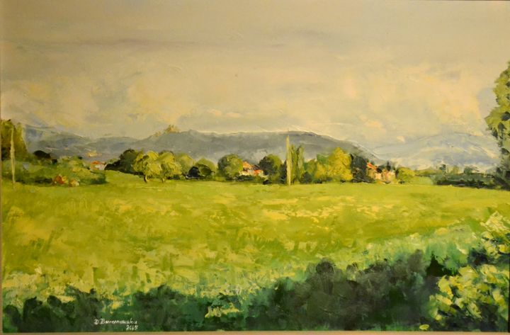 At the foot of Bologna - Dana Oil Art