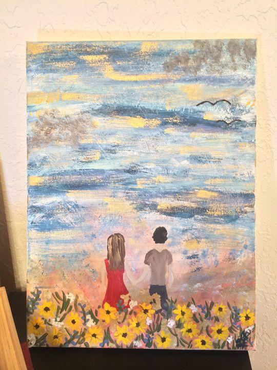 "Wild Sunflower-12""X16"" Original - Jamie's ArtWork"