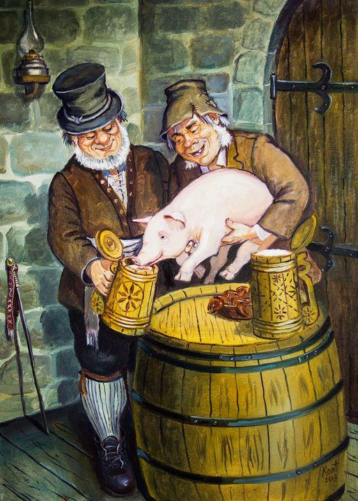 Drunk pig - Eduard Kont