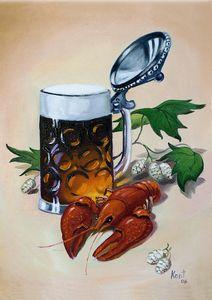 Beer Mug With Crayfish