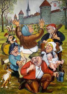 middle ages, spring picnic
