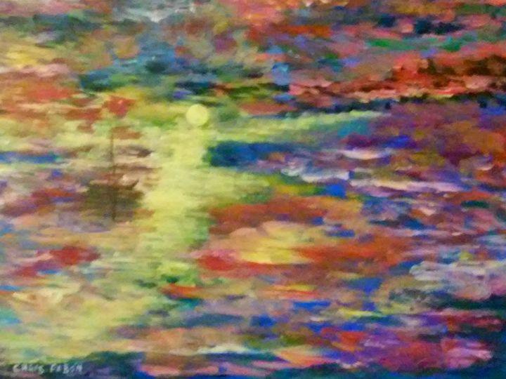 SUN SET - Cristobal pabon art gallery