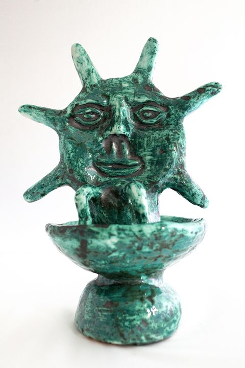 Fountain Sun-Moon - Rossana Leonardi Sculpture