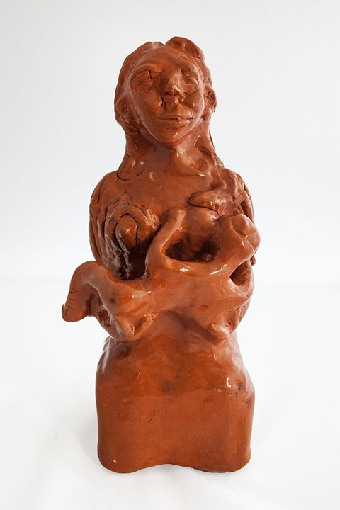 Mother with son - Rossana Leonardi Sculpture