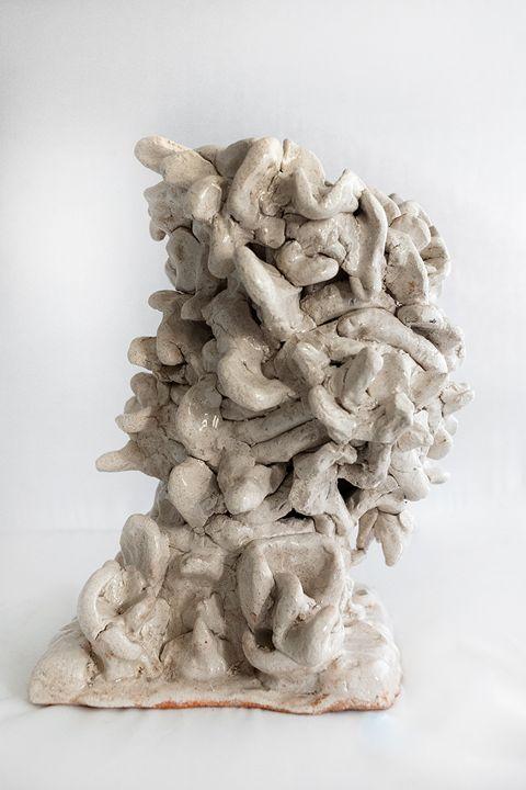 White abstract bush - Rossana Leonardi Sculpture