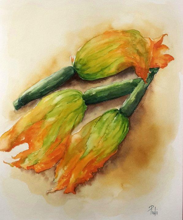 Fleurs de courgettes - Sylvie Pioli