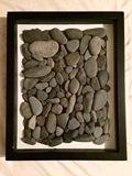 Original shadow box craft with stone