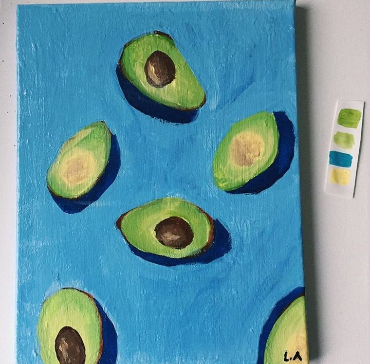 """""""avocados & the shadow - lamees' art"""