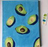 cute avocado painting