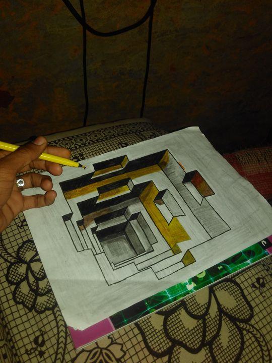 3d hole handmade art.. - Kuldeep