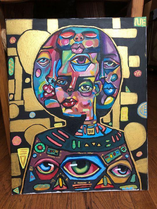 ORIGINAL Abstract Painting - Elsa Klemm