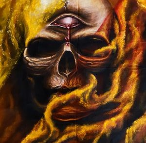 Destruction flames