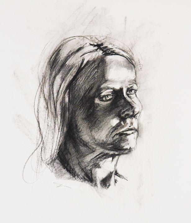 Charcoal Portrait - Julia Jensen