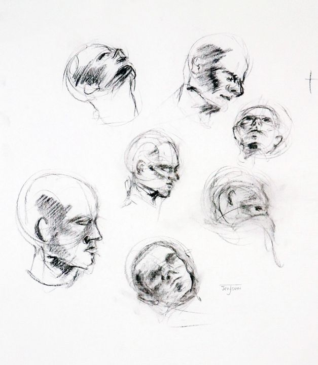 Quick Head Sketches - Julia Jensen
