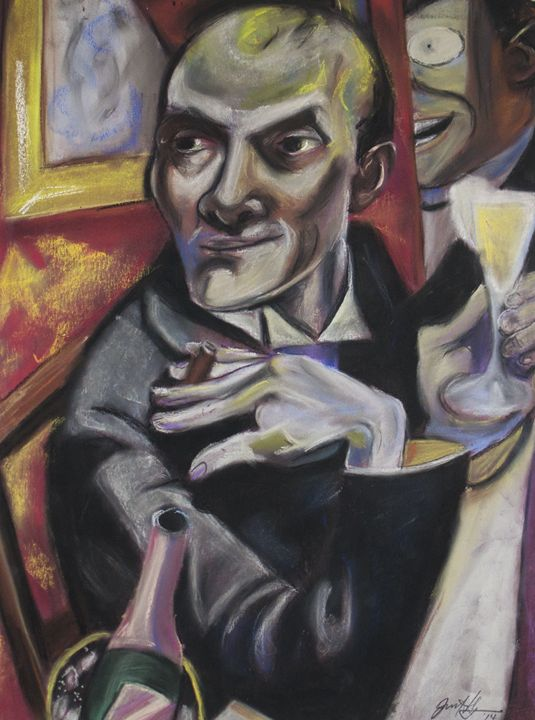 Max Beckmann Self Portrait - Julia Jensen