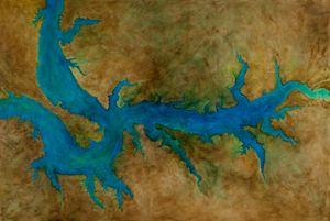 River. Lake Oahe