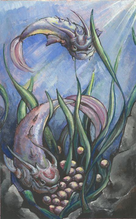 Finned Dragon - Veronica Lynch Illustration