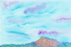 Abstract Watercolor Mountain