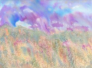 Purple Rain watercolor