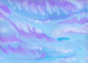 Purple Dream Clouds Watercolor