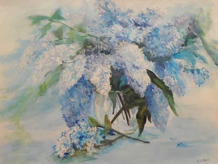 Colors of Blue - K.D. Robbins fine art