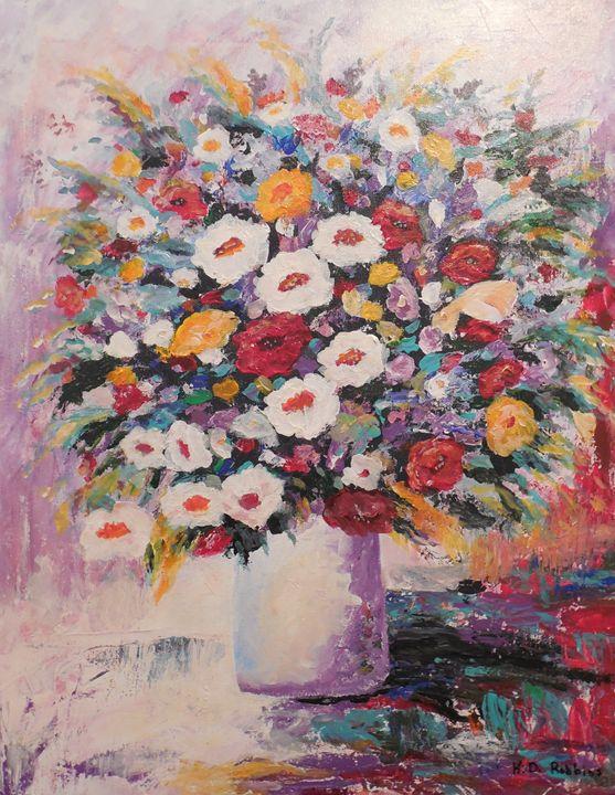 Vase of Flowers - K.D. Robbins fine art