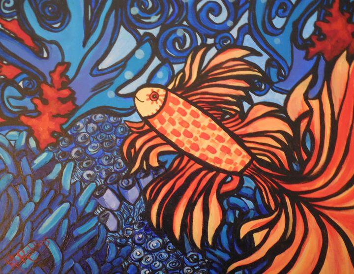 Angel Fish - K.D. Robbins fine art