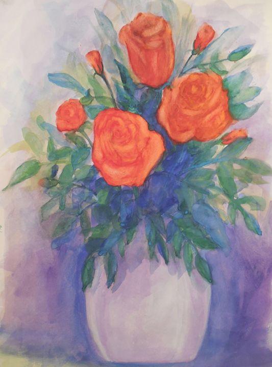 Red Rose's - K.D. Robbins fine art