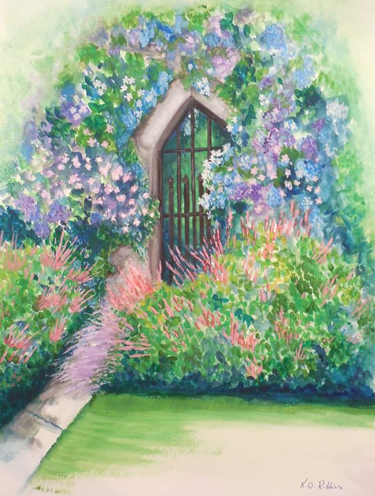 English Garden - K.D. Robbins fine art