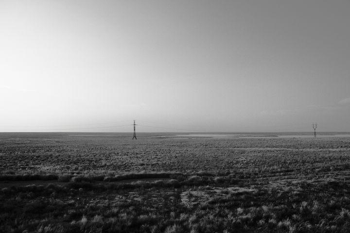 Steppe Pylons II - Tom Pinnegar