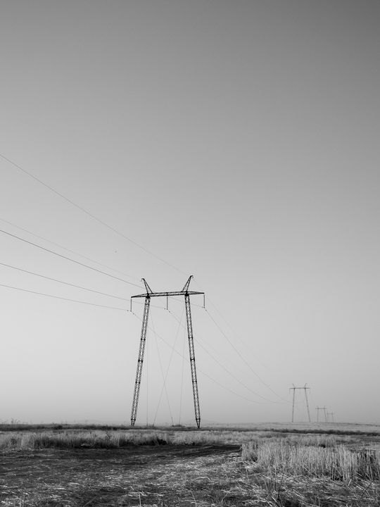 Steppe Pylons I - Tom Pinnegar