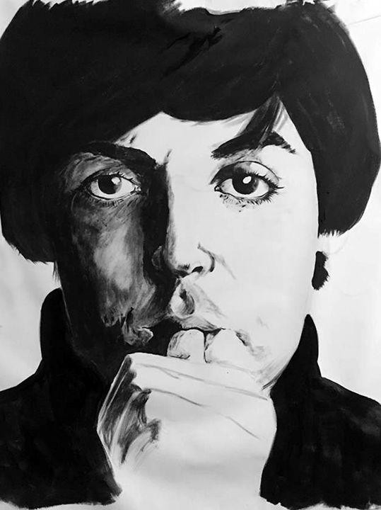 Paul McCarthney portrait - Valentine Bow art