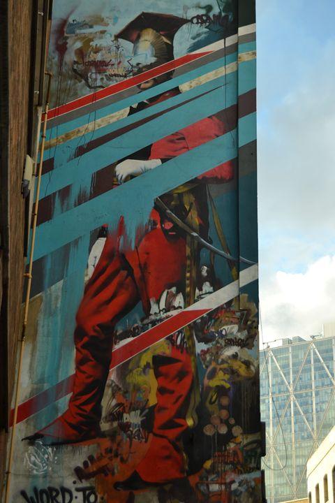 Brick Lane London - Valentine Bow art
