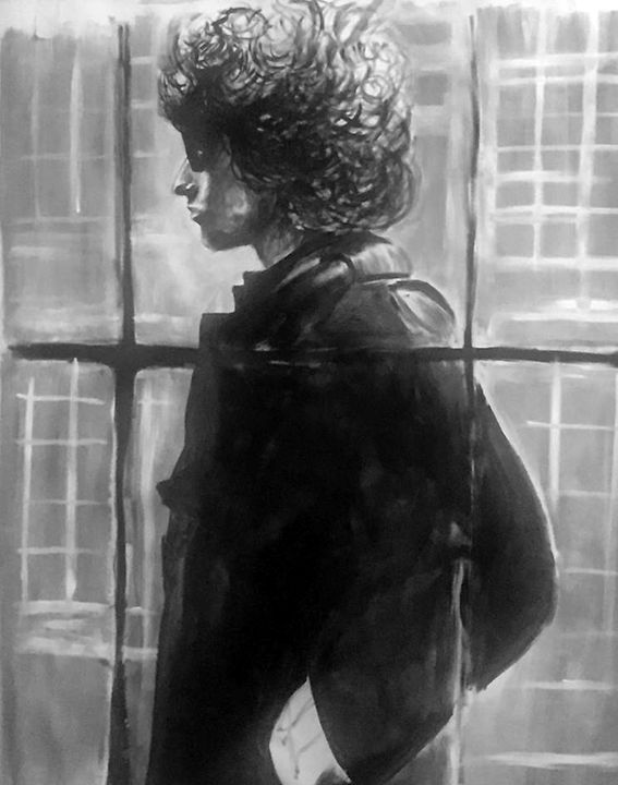 Bob Dylan portrait - Valentine Bow art