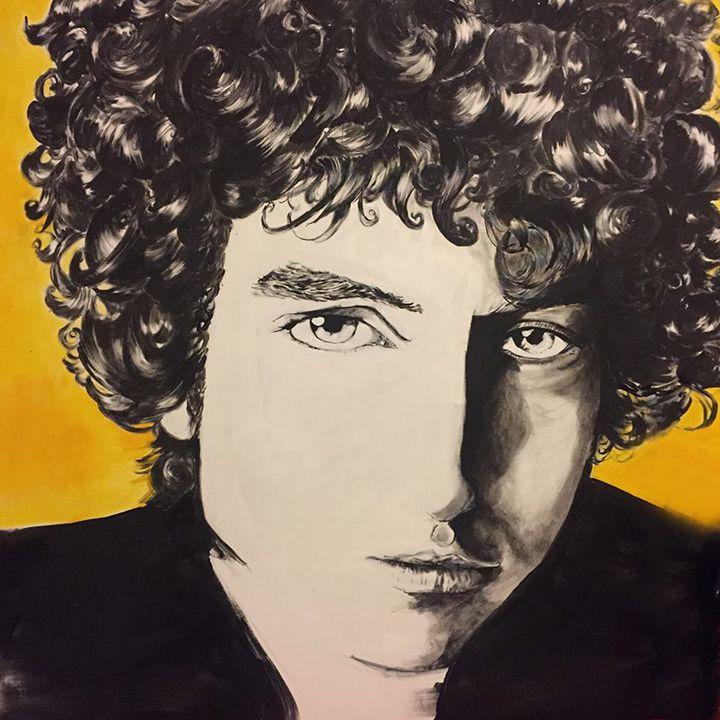 Bob Dylan painting - Valentine Bow art