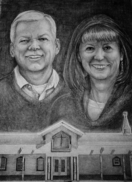 Pastor and Mrs. Inspiring - Via Vitae Portrait and Illustration Studios