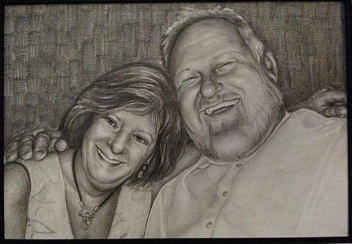 Happy Couple - Via Vitae Portrait and Illustration Studios